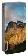 Bridalveil Falls And Full Moon Portable Battery Charger