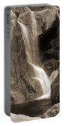 Bridalveil Falls In Yosemite Sepia Version Portable Battery Charger
