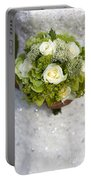 Bride Holding A Wedding Bouquet Portable Battery Charger