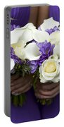 Bridesmaids With Wedding Bouquets Portable Battery Charger