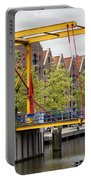 Bridge And Houses On Entrepotdok In Amsterdam Portable Battery Charger