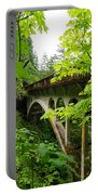 Bridge And Lush Vegetation Portable Battery Charger