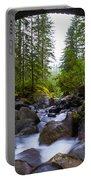 Bridge Below Rainier Portable Battery Charger by Chad Dutson