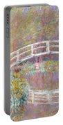 Bridge In Monet's Garden Portable Battery Charger