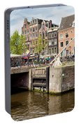 Bridge On Singel Canal In Amsterdam Portable Battery Charger