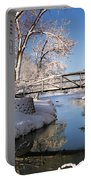 Bridge Over Icy Water Portable Battery Charger