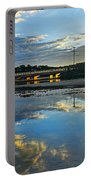 Bridge Over Lake At Sunset Narrabeen Lakes Sydney Portable Battery Charger