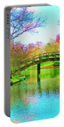 Bridge Over Lake In Spring Portable Battery Charger