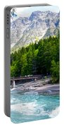 Bridge Over Mcdonald Creek In Glacier Np-mt Portable Battery Charger