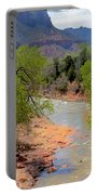 Bridge View Of The Virgin River Portable Battery Charger