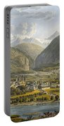 Brig On The Rhone, Bernese Alps Portable Battery Charger