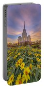 Brigham City Temple Vertical Panorama Portable Battery Charger