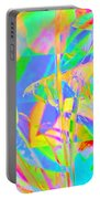 Bright Abstracted Banana Leaf - Square Portable Battery Charger