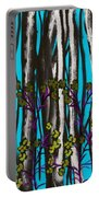 Bright Blue And Birch Portable Battery Charger