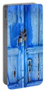 Bright Blue Door Portable Battery Charger