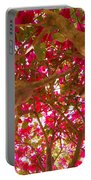 Bright Bougainvillea Portable Battery Charger
