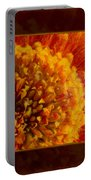 Bright Budding And Golden Abstract Flower Painting Portable Battery Charger