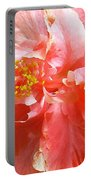 Bright Pink Hibiscus Portable Battery Charger
