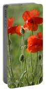 Bright Poppies 2 Portable Battery Charger