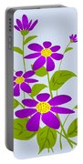 Bright Purple Portable Battery Charger