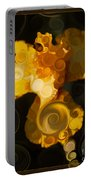 Bright Yellow Bearded Iris Flower Abstract Portable Battery Charger