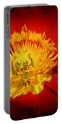 Bright Yellow Poppy Center Portable Battery Charger