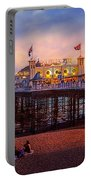 Brighton's Palace Pier At Dusk Portable Battery Charger