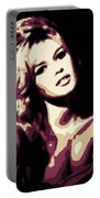 Brigitte Bardot Poster Art Portable Battery Charger