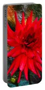 Brilliance In An Autumn Garden - Red Dahlia Portable Battery Charger