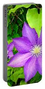 Brilliant Blue Clematis Portable Battery Charger