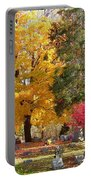 Brilliant Colors In The Cemetery  Portable Battery Charger