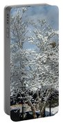 Brilliant Snow Coated Tree Portable Battery Charger