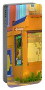 Bring Your Own Wine Restaurant Vents Du Sud Rue Roy Corner French Cafe Street Scene Carole Spandau Portable Battery Charger