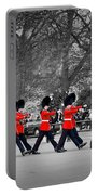British Royal Guards March And Perform The Changing Of The Guard In Buckingham Palace Portable Battery Charger