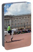 British Royal Guards Riding On Horse And Perform The Changing Of The Guard In Buckingham Palace Portable Battery Charger