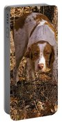 Brittany Spaniel Pixel's Pointed Woodcock Portable Battery Charger