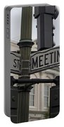 Broad Street And Meeting Street Charleston South Carolina Portable Battery Charger
