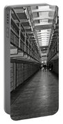 Broadway Walkway In Alcatraz Prison Portable Battery Charger by RicardMN Photography