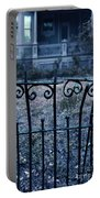 Broken Iron Fence By Old House Portable Battery Charger