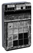 Broken Windows In Black And White Portable Battery Charger