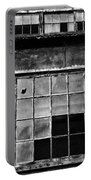 Broken Windows In Black And White Portable Battery Charger by Paul Ward