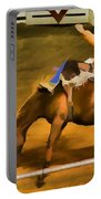 Bronc Bucking Out The Gate Portable Battery Charger