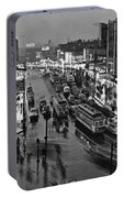 Bronx Fordham Road At Night Portable Battery Charger