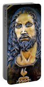 Bronze Jesus Portable Battery Charger