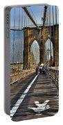 Brooklyn Bridge At Dusk Portable Battery Charger