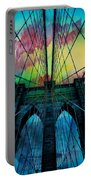 Psychedelic Skies Portable Battery Charger