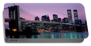 Brooklyn Bridge New York Ny Usa Portable Battery Charger