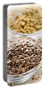 Brown And Golden Flax Seed Portable Battery Charger