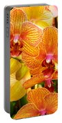 Smiling Brown And Pink Orchids Portable Battery Charger