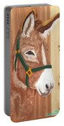 Brown Donkey On Cedar Portable Battery Charger
